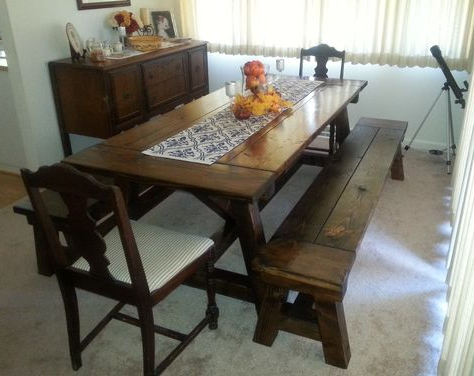 Alexxes 38'' Trestle Dining Tables Pertaining To Most Popular Rustic Truss Beam Dining Table Great For Large Families (View 20 of 25)