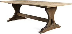 Alexxia 38'' Trestle Dining Tables Inside Most Up To Date Amazon – Zentique Gent Dining Table – Tables (View 22 of 25)