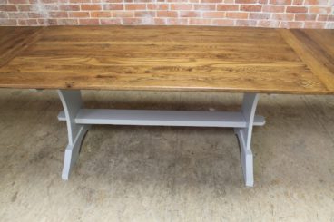 Alexxia 38'' Trestle Dining Tables With Famous Trestle Table In Reclaimed Oak – Ecustomfinishes (View 9 of 25)