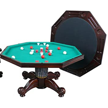 """Amazon : 3 In 1 Game Table – Octagon 48"""" Bumper Pool For Most Recent 48"""" 6 – Player Poker Tables (View 4 of 25)"""