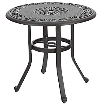 """Amazon: 32"""" Cast Aluminum Patio Outdoor Retro Bistro Within Newest Cainsville 32'' Dining Tables (View 13 of 25)"""