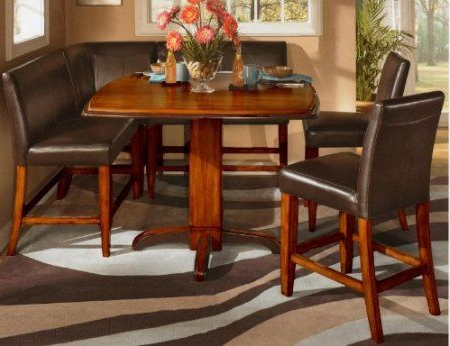Amazon: 6 Pc Counter Height Two Tone Finish Square Within 2019 Charterville Counter Height Pedestal Dining Tables (View 2 of 25)