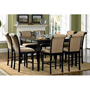 Amazon: 9pc Counter Height Dining Table & Stools Set Inside Most Recent Counter Height Dining Tables (View 23 of 25)