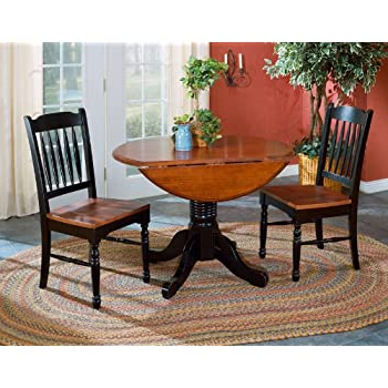 Amazon – A America British Isles Round Double Drop In 2020 Adams Drop Leaf Trestle Dining Tables (View 2 of 25)