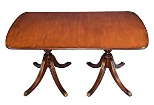 Amazon – Antique Style Mahogany Double Pedestal Dining Pertaining To Well Known Kirt Pedestal Dining Tables (View 9 of 25)