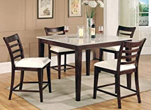 Amazon: Bar Height Dining Table Collection Granite Top Inside Best And Newest Abby Bar Height Dining Tables (View 24 of 25)