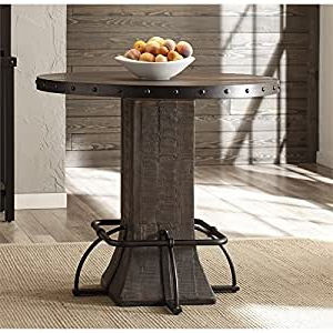 """Amazon – Bowery Hill 36"""" Round Counter Height Dining Throughout Famous Desloge Counter Height Trestle Dining Tables (View 20 of 25)"""