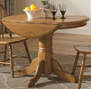 Amazon: Brooks Furniture Laminate Top Round Drop Leaf Intended For Best And Newest Jazmin Pedestal Dining Tables (View 12 of 25)