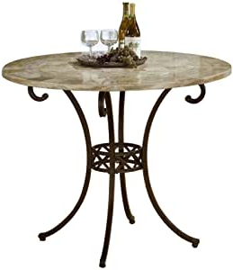 Amazon: Brookside Stone Top Counter Height Table With Fashionable Dawid Counter Height Pedestal Dining Tables (View 16 of 25)