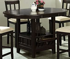 Amazon – Counter Height Dining Table With Storage Base In Well Known Liesel Bar Height Pedestal Dining Tables (View 3 of 25)