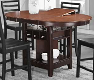 Amazon: Counter Height Table With Espresso Frame And Inside Widely Used Hearne Counter Height Dining Tables (View 15 of 25)