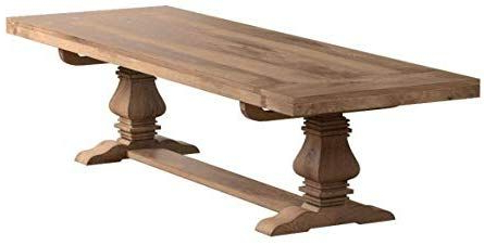 Amazon – Florence Rectangular Double Pedestal Dining Intended For Most Up To Date 28'' Pedestal Dining Tables (View 16 of 25)