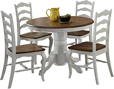 """Amazon – French Countryside Oak/white 42"""" Round Throughout Trendy Darbonne 42'' Dining Tables (View 22 of 25)"""