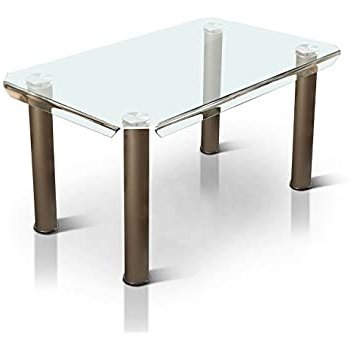 Amazon – Homes: Inside + Out Champagne Fasa Intended For Most Current Babbie Butterfly Leaf Pine Solid Wood Trestle Dining Tables (View 24 of 25)