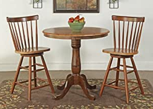 Amazon: International Concepts 36 Inch Round Counter Pertaining To Recent Menifee 36'' Dining Tables (View 6 of 25)