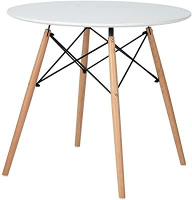 Amazon – Kitchen Dining Table Round Coffee Table Black Regarding 2019 Nolea (View 16 of 25)