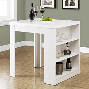"""Amazon – Monarch Specialties I 32""""x 36"""" / White In Recent Hearne Counter Height Dining Tables (View 21 of 25)"""