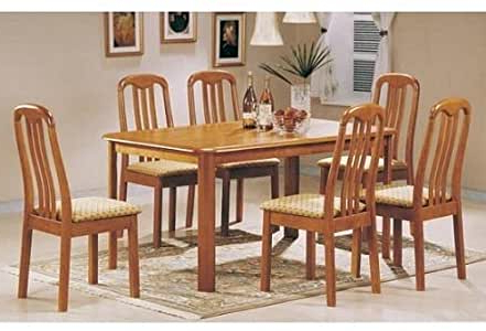 Amazon – New 36''x60'' Solid Top Wood Dining Table W 4 Throughout Latest Hitchin 36'' Dining Tables (View 21 of 25)