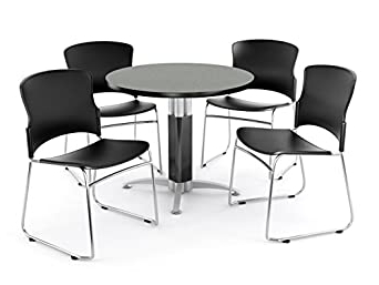 """Amazon: Ofm Break Room Package – 36"""" Round Gray Nebula With Regard To Best And Newest Mode Round Breakroom Tables (View 17 of 25)"""