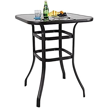 Amazon: Phi Villa Bar Height Bistro Table Outdoor Bar With Regard To Preferred Abby Bar Height Dining Tables (View 15 of 25)