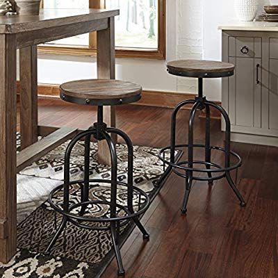 Amazon: Pinnacal Light Brown Wood Metal Adjustable With Regard To Most Recently Released Mcloughlin Dining Tables (View 2 of 25)