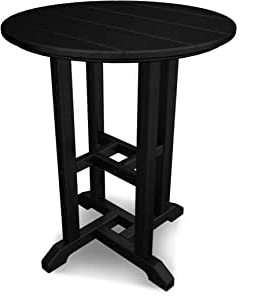 """Amazon : Polywood Rt124bl Traditional 24"""" Round Dining With Regard To Current Adsila 24'' Dining Tables (View 2 of 25)"""