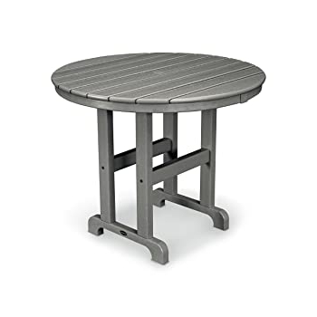 Amazon : Polywood Rt236gy Round Dining Table, 36 Inch With Regard To Trendy Menifee 36'' Dining Tables (View 15 of 25)