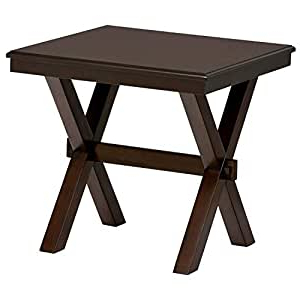 Amazon: Ravenna Home Flush Mount Wood Cross Side Table For Recent Grimaldo (View 4 of 25)