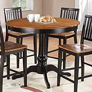 Amazon – Steve Silver Company Candice Round Counter Pertaining To Famous Shoaib Counter Height Dining Tables (View 6 of 25)