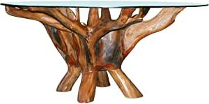 Amazon: Teak Root Coffee Table Including 43 Inch Round Inside Fashionable Neves 43'' Dining Tables (View 19 of 25)
