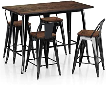 Amazon – Vipek Metal Counter Height Dining Table 24 Throughout Most Recent Isak (View 6 of 25)