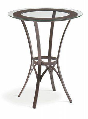 Amisco Kai Tall Dining Table With Wood Ringamisco With 2020 Andrelle Bar Height Pedestal Dining Tables (View 20 of 25)