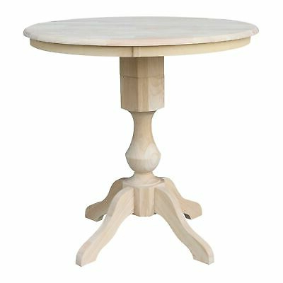 """Andrelle Bar Height Pedestal Dining Tables Throughout Most Popular 36"""" Round Top Pedestal Dining Table – Unfinished (View 4 of 25)"""