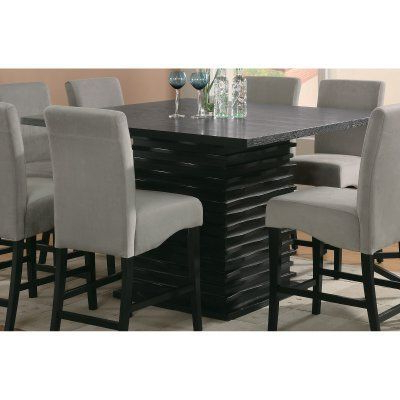 Andreniki Bar Height Pedestal Dining Tables For Latest Coaster Furniture Stanton Counter Height Dining Table (View 7 of 25)