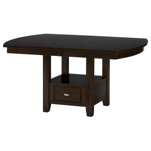 Andreniki Bar Height Pedestal Dining Tables Throughout Current Homelegance Bayshore Extension Counter Height Table With (View 18 of 25)