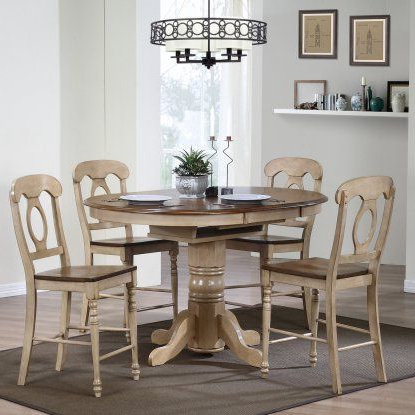 Andrenique Bar Height Dining Tables Regarding Well Liked Sunset Trading Brookdale 5 Piece Oval Counter Height Table (View 6 of 25)