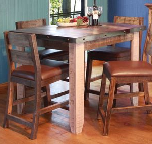 Antique Multicolor Counter Height 42 Inch Dining Table Pertaining To Popular Darbonne 42'' Dining Tables (View 10 of 25)