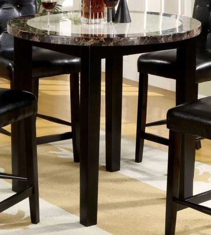 """Atlas Iv 40"""" Faux Marble Round Counter Height Table From With Regard To Well Known Hearne Counter Height Dining Tables (View 19 of 25)"""