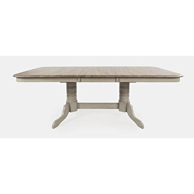 August Grove® Ertac Extendable Butterfly Leaf Rubberwood For 2019 Wes Counter Height Rubberwood Solid Wood Dining Tables (View 21 of 25)