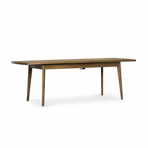 Featured Photo of Aulbrey Butterfly Leaf Teak Solid Wood Trestle Dining Tables