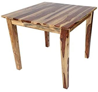 Aulbrey Butterfly Leaf Teak Solid Wood Trestle Dining Tables Inside Well Known Santa Fe Dining Table (View 10 of 19)
