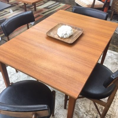 Aulbrey Butterfly Leaf Teak Solid Wood Trestle Dining Tables Regarding Well Liked Small 1960s Teak Rectangular Dining Table, Perfect For (View 8 of 19)