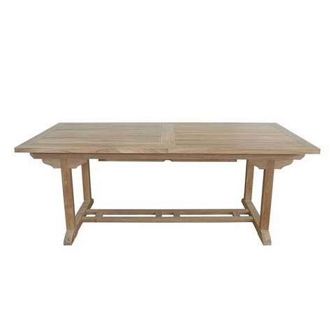 Aulbrey Butterfly Leaf Teak Solid Wood Trestle Dining Tables With Well Known Anderson Teak Bahama 10 Foot Rectangular Extension Table (View 13 of 19)