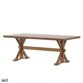 Babbie Butterfly Leaf Pine Solid Wood Trestle Dining Tables Pertaining To Most Popular Overstock: Online Shopping – Bedding, Furniture (View 10 of 25)