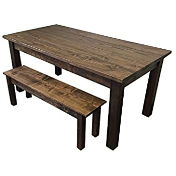 """Babbie Butterfly Leaf Pine Solid Wood Trestle Dining Tables Within Favorite Amazon – Yukon Farmhouse Table 60"""" – Tables (View 18 of 25)"""