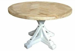Balfour 39'' Dining Tables In Most Up To Date Brussle Round Dining Table Recycled Elm Wood, 120, (View 14 of 25)