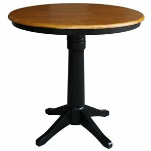 """Barra Bar Height Pedestal Dining Tables Intended For Well Known International Concepts 36"""" Round Pedestal Counter Height (View 20 of 25)"""