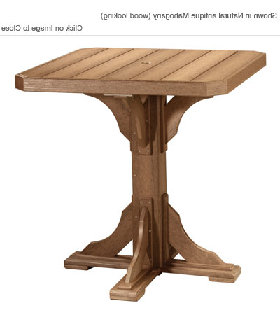Barra Bar Height Pedestal Dining Tables Pertaining To 2020 Outdoor Poly Furniture: Luxury Poly Pbart Pedestal Bar (View 21 of 25)