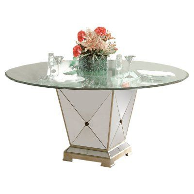 Bassett Mirror Borghese Dining Table – 8311 601 906ec With Regard To Fashionable Hemmer 32'' Pedestal Dining Tables (View 10 of 25)