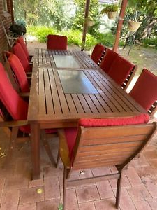 Bechet 38'' Dining Tables In Most Current 10 Seater Outdoor Dining Table (View 23 of 25)